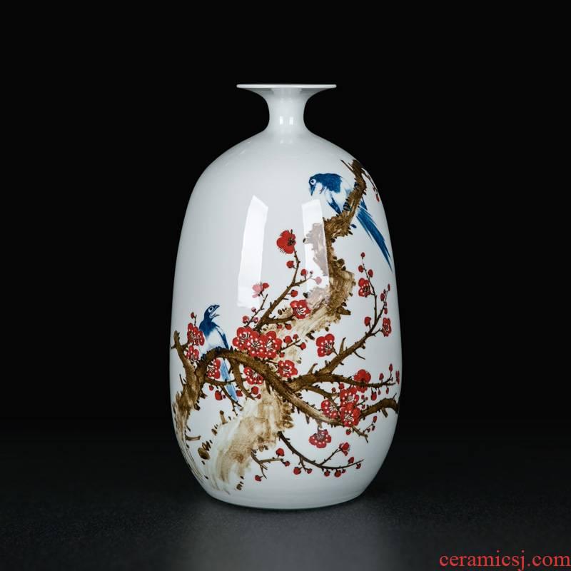 Painting crafts vase jingdezhen Chinese archaize sitting room desktop dried flowers flower arrangement furnishing articles decorative ceramics