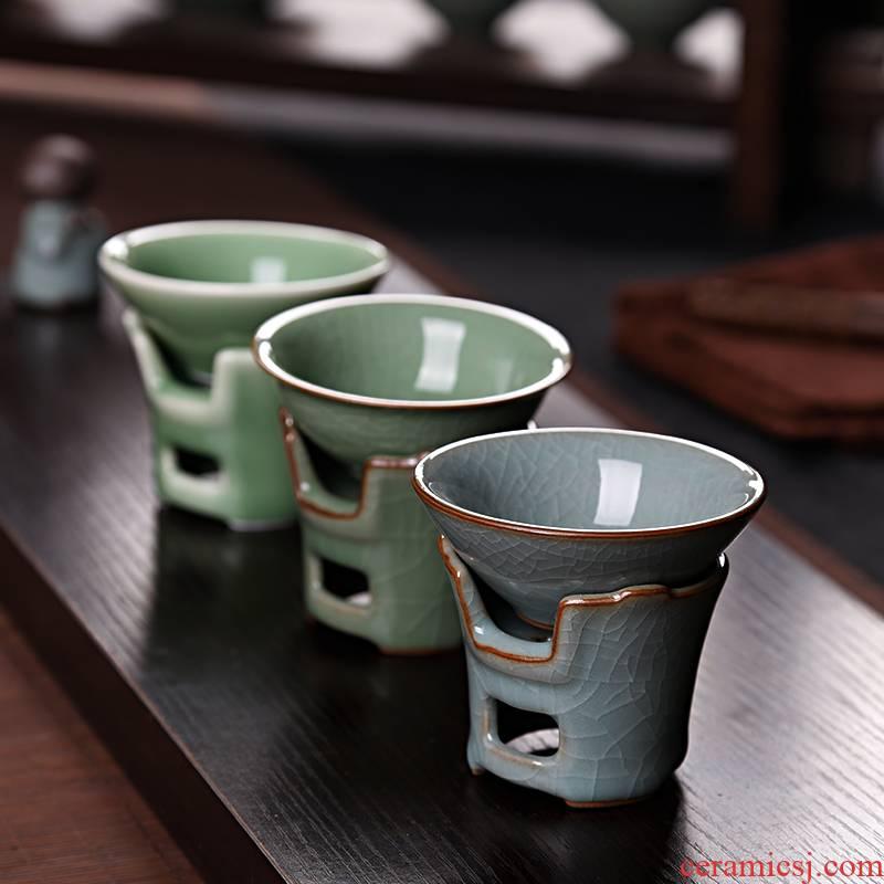 Longquan celadon celadon tea filter filter kung fu tea tea saucer) ceramics fittings