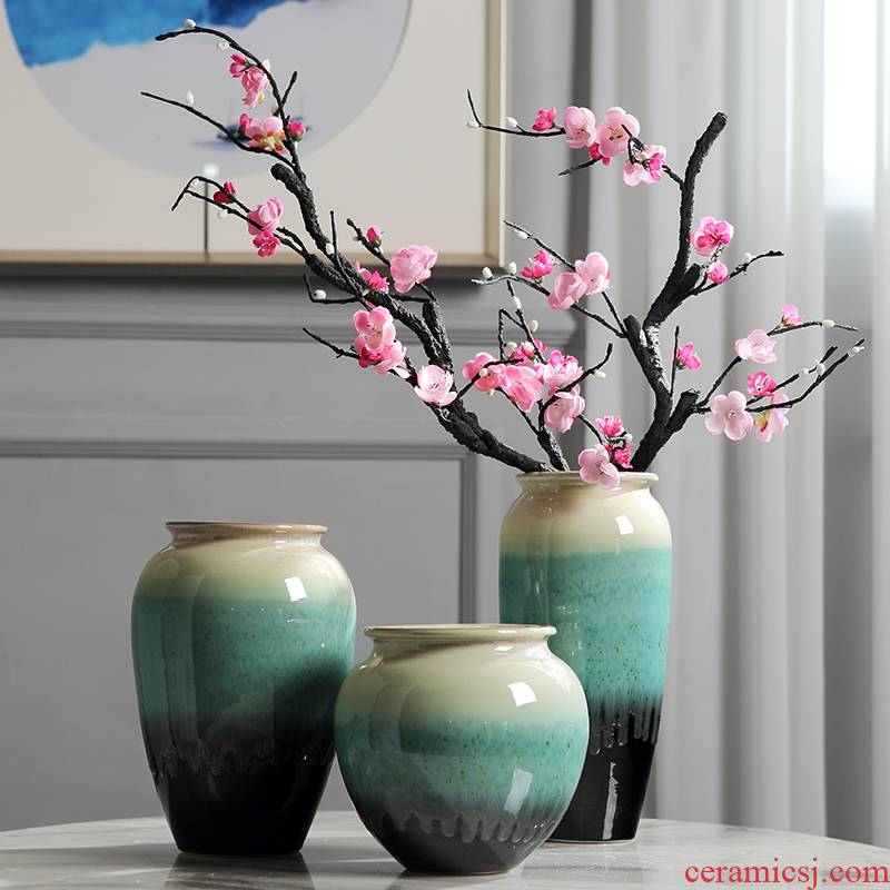 The New Chinese jingdezhen ceramic vase inserted dried flowers, TV ark, place the sitting room porch light key-2 luxury home decoration accessories