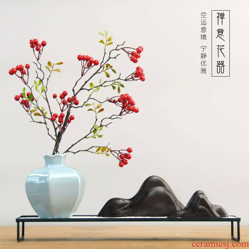 Rain tong contracted new Chinese porcelain pot furnishing articles example room household soft outfit is small adorn article sitting room storage tank was creative