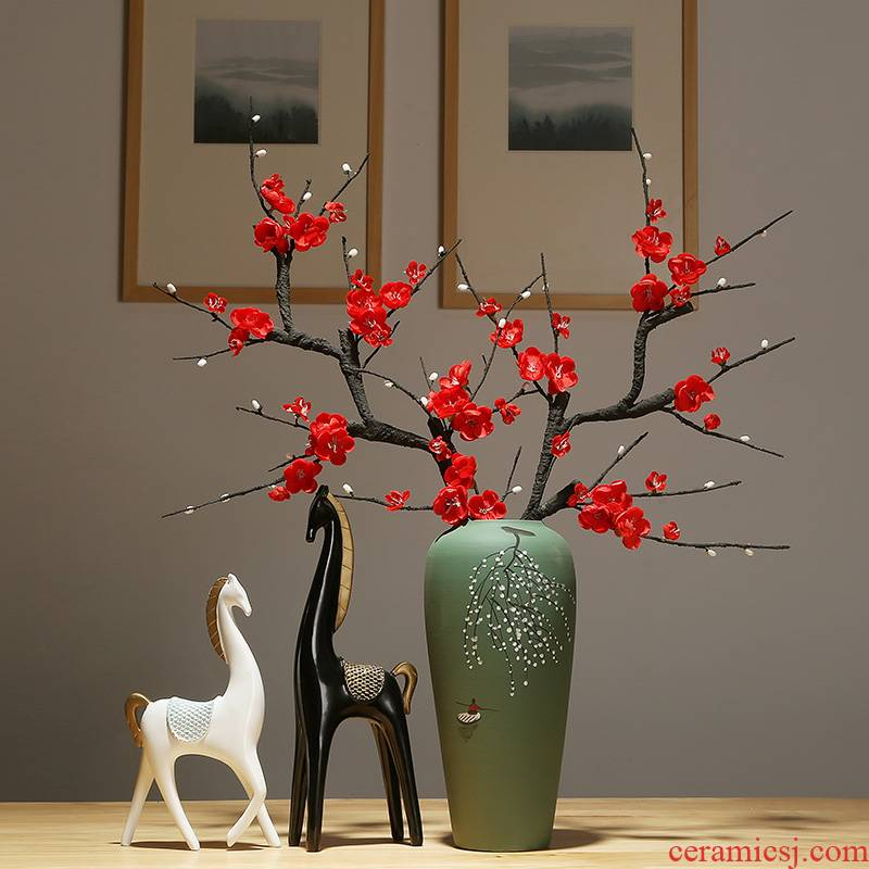 Jingdezhen ceramics vase of new Chinese rich ancient frame sitting room porch place dry flower arranging flowers adornment ornament