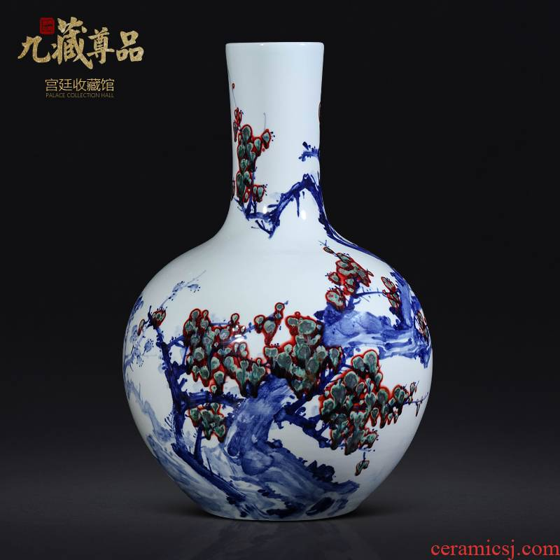 Dong - Ming li hand - made youligong tree of jingdezhen ceramics Chinese style living room TV cabinet porch is decorated furnishing articles