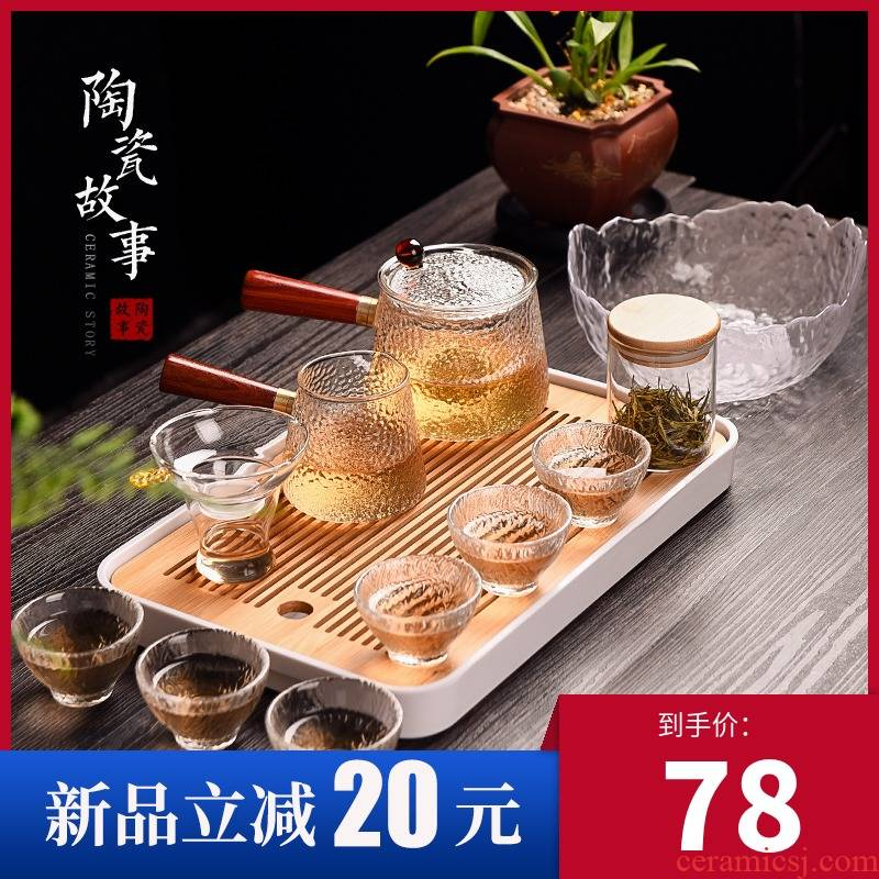 Story of pottery and porcelain tea sets of household glass teapot visitor tea tray was kung fu tea set a small set of living room office