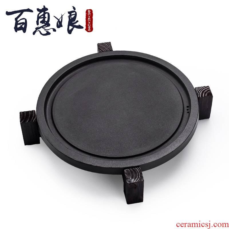 (niang four unity kung fu tea tray of household solid wood tea set tea service of a complete set of ceramic tea cups Taiwan affairs