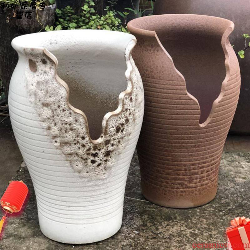 High running to restore ancient ways more meat gap High cliff running of jingdezhen ceramics High ground flowerpot old POTS strip