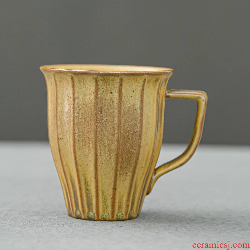 Japanese coarse pottery office green tea cups to restore ancient ways with the glass ceramic coffee cup home stay facility up household tea cups