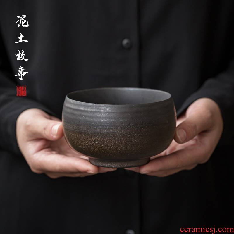 Jingdezhen hand gold small tea wash to wash to rust household ceramics glaze writing brush washer from Japanese zen tea zero
