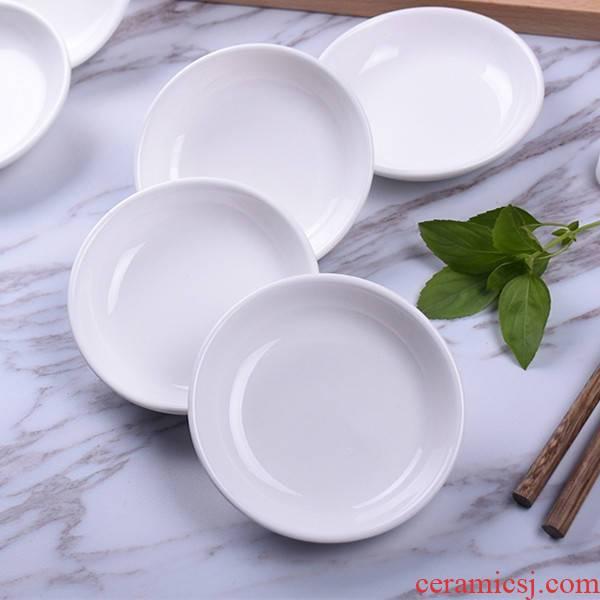 10 a to pure white ceramic plate of dish dish of sauce seasoning sauce vinegar ipads plate hotel dab of household ceramics