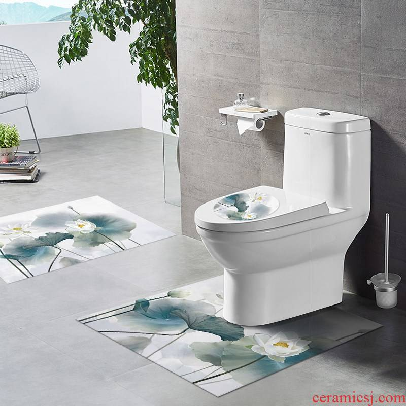 Prevent slippery ground decorative strap as mat u - shaped toilet implement becomes toilet horse wall ceramic tile mat