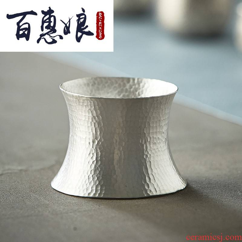 Hammer (niang silver) 99 sterling silver sycee tea accessories tea saucer base frame