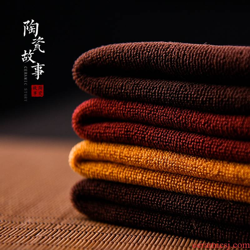 Ceramic story bibulous high - grade tea tea towel cloth pad zen Chinese style tea special tea tea table cloth towel cloth