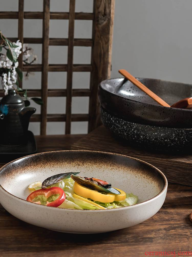 Utsuwa Japanese ceramic soup plate deep expressions using deep dish household creative move tureen large plate disc business dinner