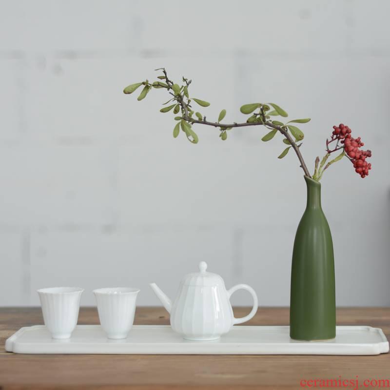 Decoration of new Chinese style mini floret bottle ceramic flower arranging furnishing articles sitting room tea table floral desktop zen household