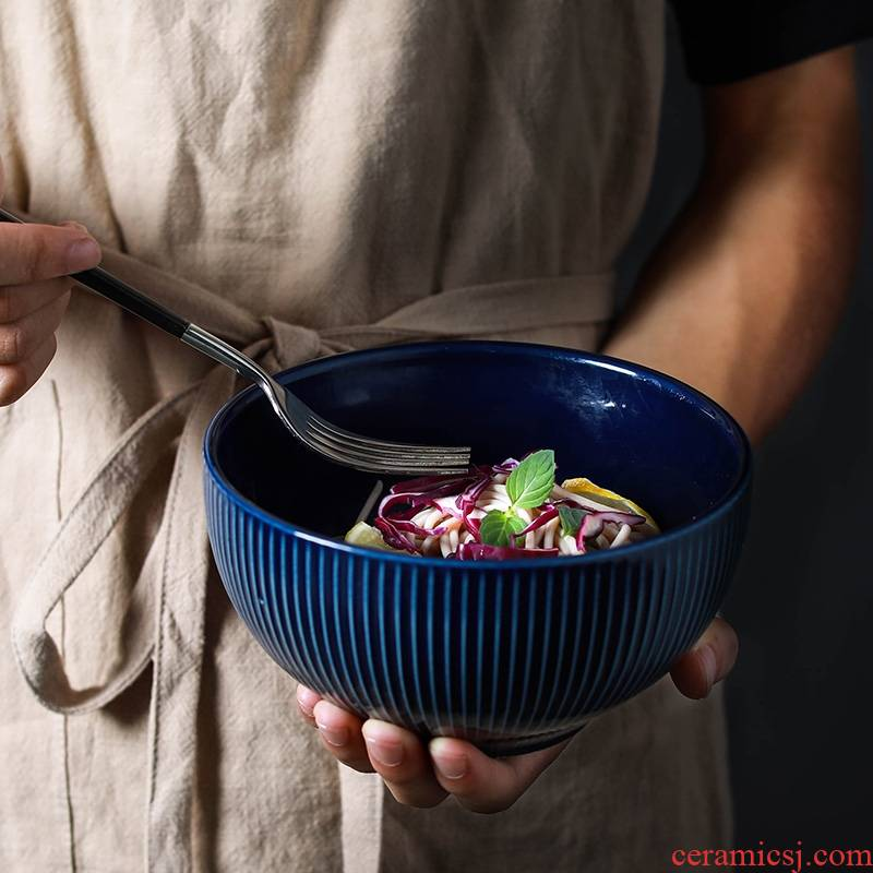 Qiao mu Japanese dish bowl of soup bowl of cereal tableware yogurt rainbow such as bowl bowl mercifully rainbow such use household porcelain carving decorative pattern