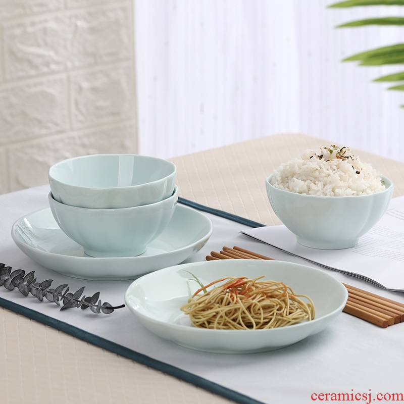 Japanese dishes suit household couples eating soup bowl dish dish move ceramic bowl dish soup bowl mercifully rainbow such use