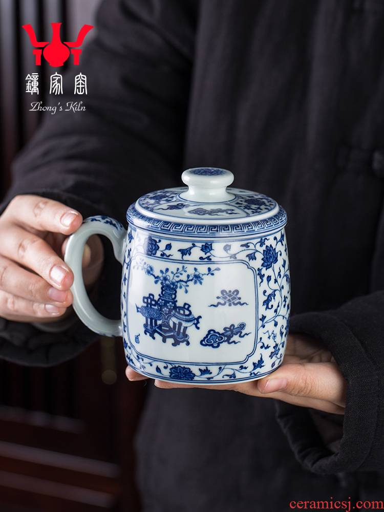 Clock home up ceramic cups jingdezhen porcelain maintain bound branch office sweet move and a cup of tea cup with lid