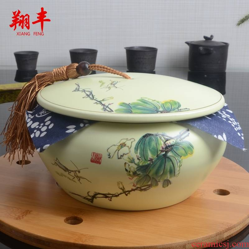Qiao mu caddy fixings ceramic checking coarse pottery tea pot seal piggy bank boutique tea tea set