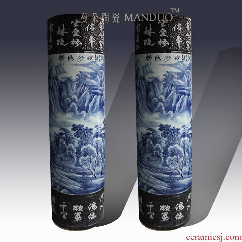 1.8 meters tall ceramic quiver straight big vase companies display hall, the sitting room of large vase
