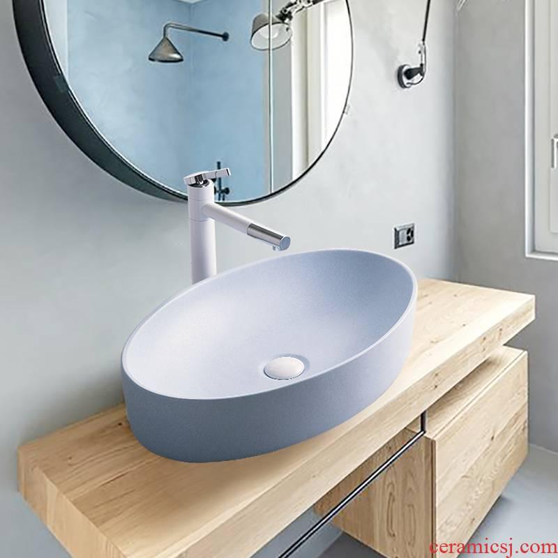 Ceramic face basin home stage basin to single Nordic birdbath simple toilet lavabo, the balcony the lavatory basin