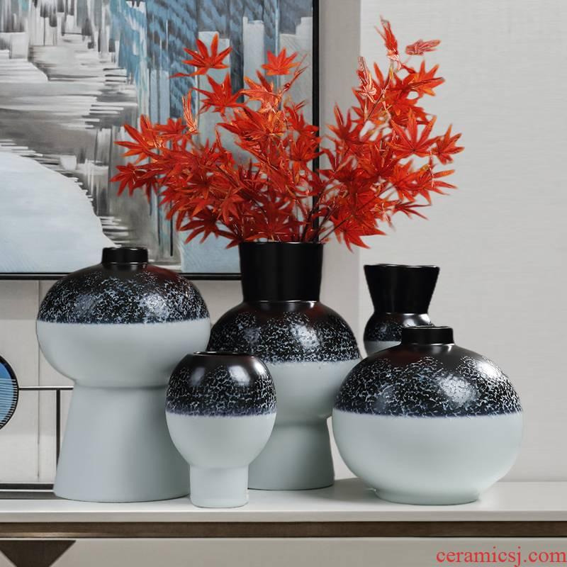 Jingdezhen ceramic vases, flower arranging furnishing articles, the sitting room porch light TV ark key-2 luxury high - grade handicraft decorative household items