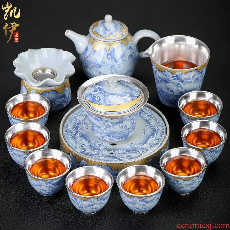 Qingyun to coppering. As silver tea set silver silver tureen tea cups ceramic teapot tea set