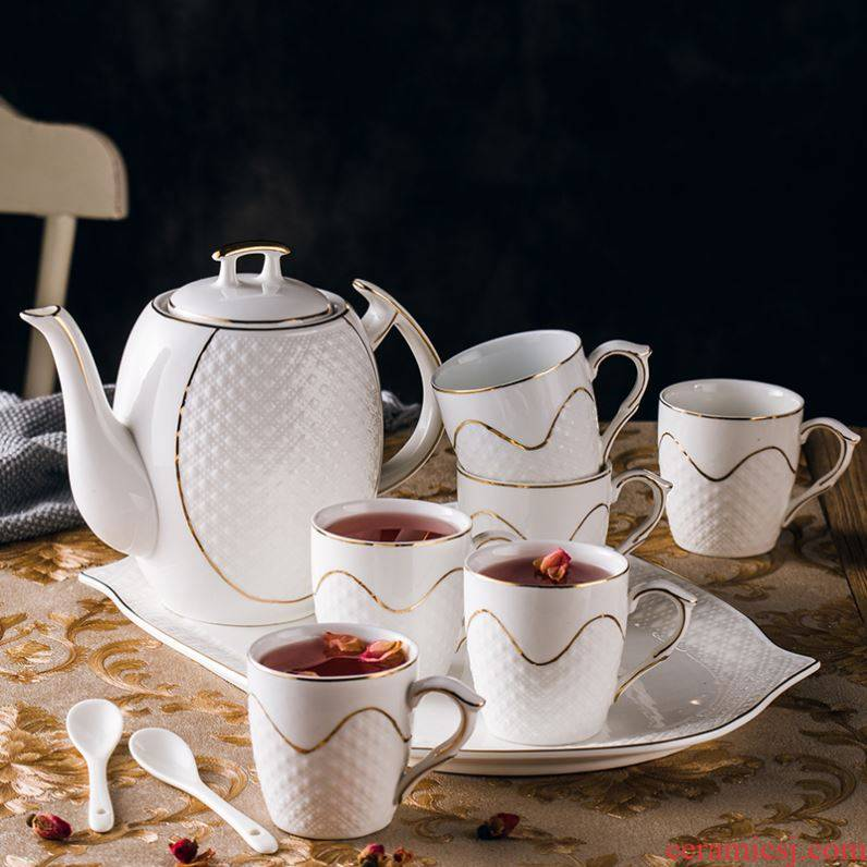 European household ipads porcelain cup suit ceramic cup cold water pot of tea coffee set creative cold to hold to high temperature kettle
