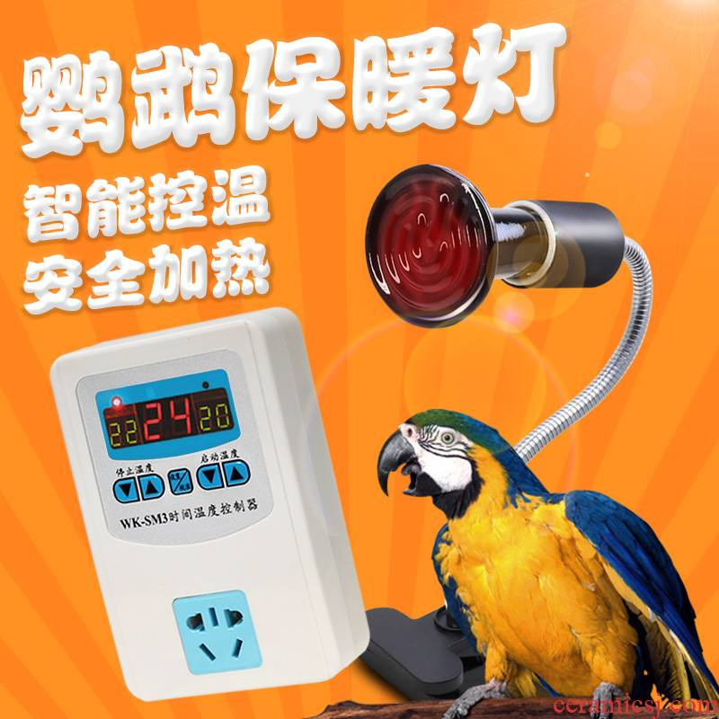 Cockatiel parrot bird with warm light warm heating thermostatic incubator heater heating ceramic lamp socket winter supplies