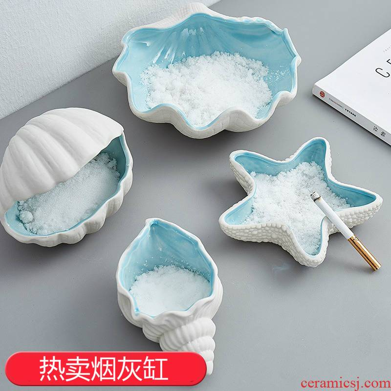 Young girl heart express cartoon household individuality creative trend ceramic ashtray ins office atmosphere contracted wind