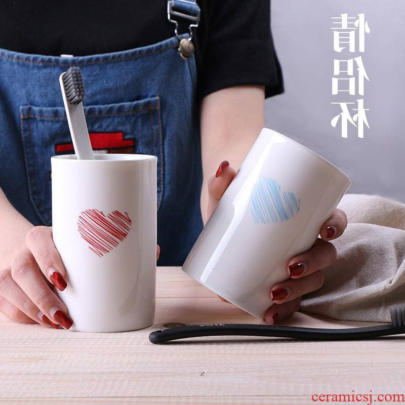 The kitchen creative ceramic cup breakfast milk cup straight to send home cup gift cup custom manufacturer