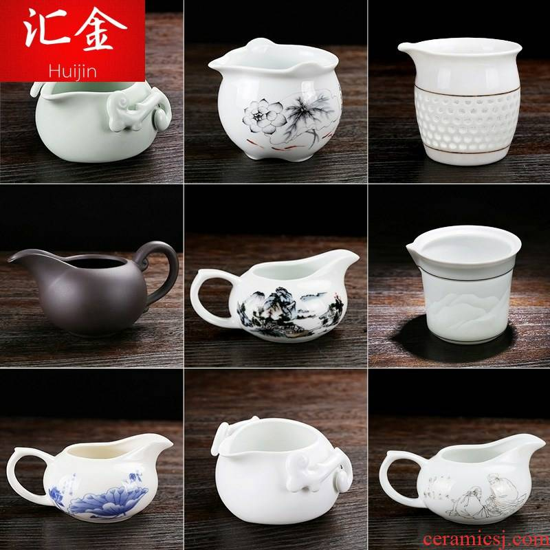 Holding a tea and a cup of ceramic GongDaoBei teapot reasonable individual household one cup spout white ceramic tea set