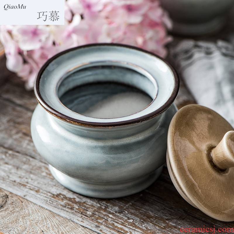 Qiam qiao mu creative method of sugar do old coffee cup teapot milk as cans of afternoon tea pottery cups and saucers suits for the Norwegian sea