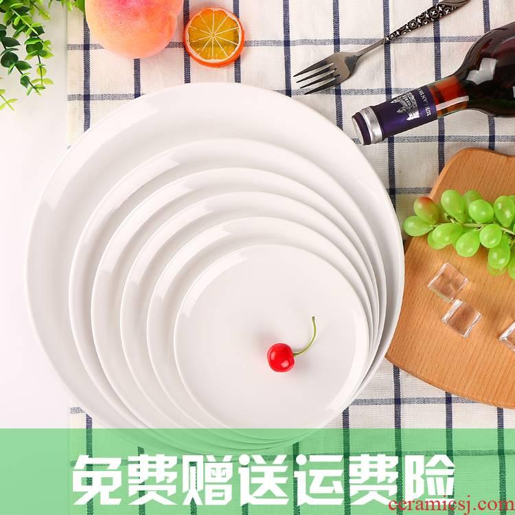 Utsuwa5 thickening melamine tableware disc tile - like circular platter hotel buffet snack plate plastic plate