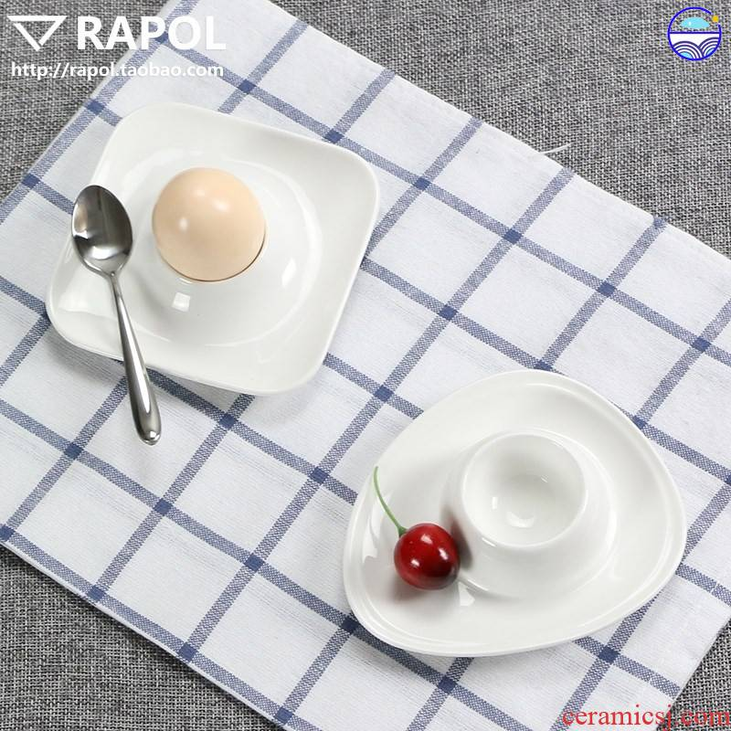 Dense Eggs ceramic European cup egg egg cup holder frame table place egg cup creative building a lovely