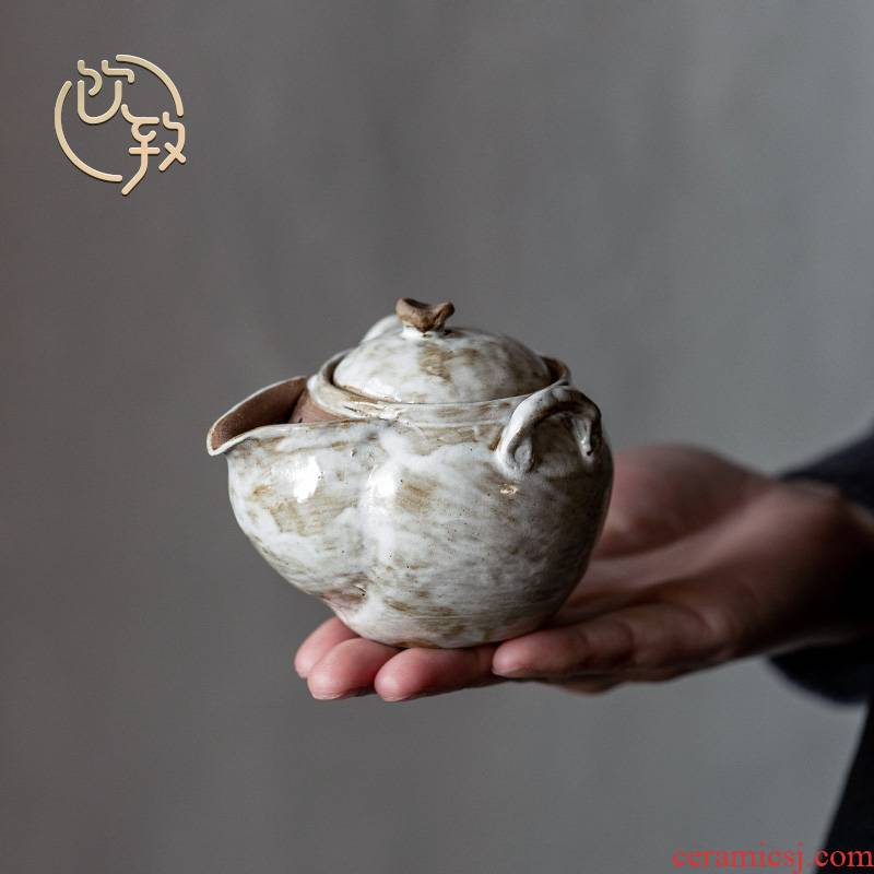 Ultimately responds chai up to become pure manual vintage Japanese household tureen single ceramic teapot tea set ear pot single pot