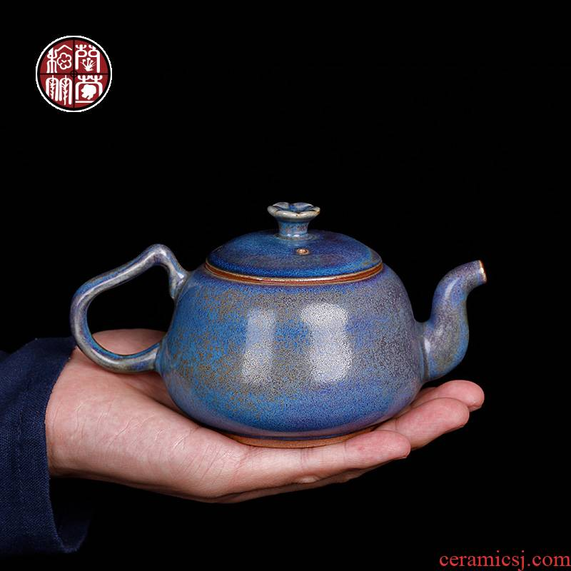 Jin shenhou undressed ore glaze kung fu tea pot masterpieces Chen Juncai hand make tea for the jun porcelain up single pot of large - sized restoring ancient ways