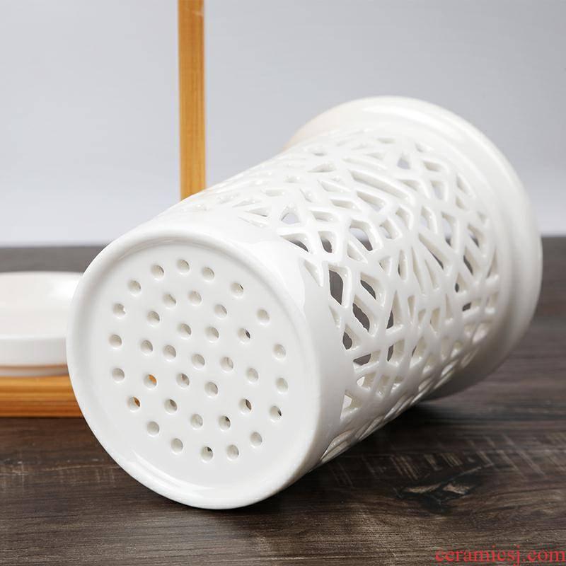 Ceramic chopsticks chopsticks basket tube multi - functional kitchen shelf put spoons receive a case of waterlogging under caused by excessive rainfall chopsticks cage home