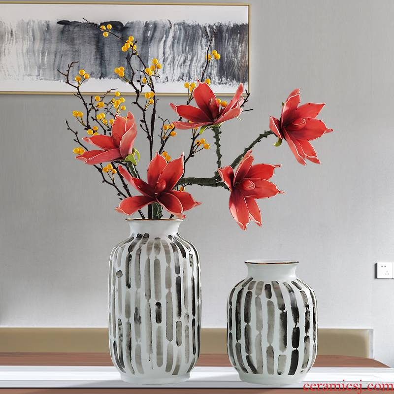 The New Chinese jingdezhen ceramic vase furnishing articles creative home sitting room wine porch TV ark, porcelain decoration