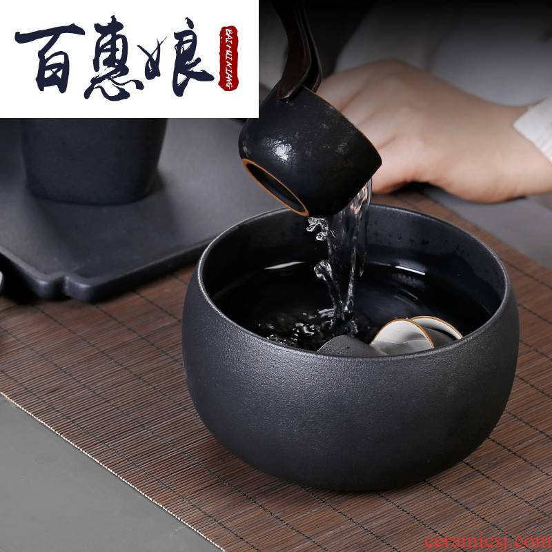 Restoring ancient ways (niang coarse ceramic tea wash large home tea cups of water, after the wash bowl in hot water cylinder kunfu tea
