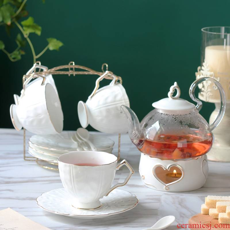 Qiao mu English afternoon tea cup coffee cup small European - style key-2 luxury elegant high - grade ceramic tea set