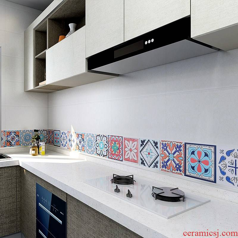 Retro modesty creative waist line as the self - adhesive waterproof and oil proof becomes kitchen bathroom bedroom tiled wall ceramic tile stick