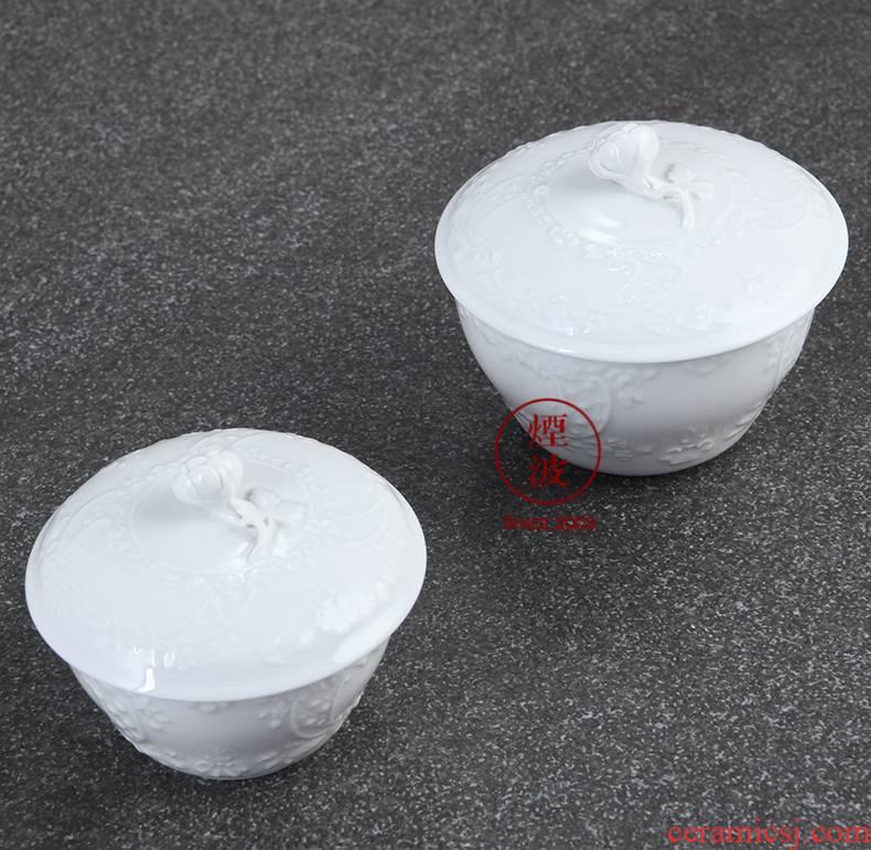 German MEISSEN mason mason meisen porcelain marseille series pure white anaglyph sugar jar of coffee