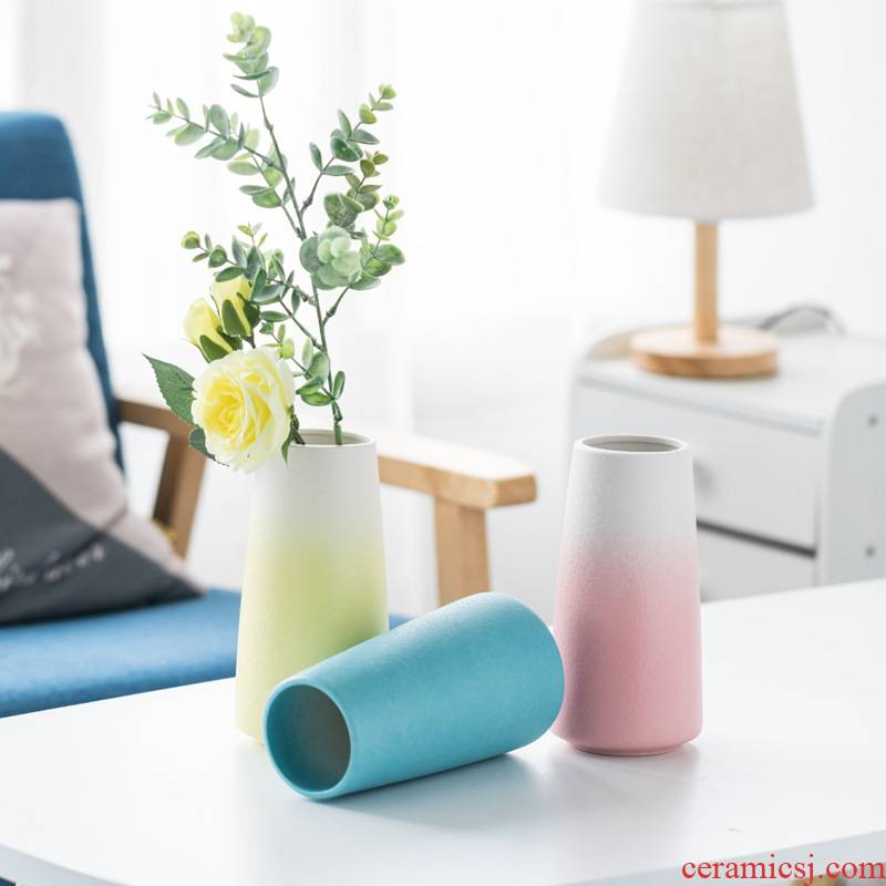 Nordic ceramic vase furnishing articles home sitting room dry flower arranging flowers, TV ark, adornment of modern creative table vase