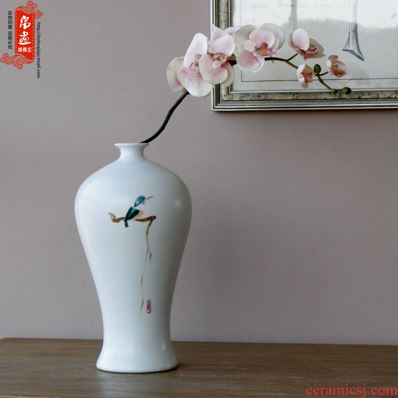 Beaming coloured drawing or pattern BoHua   jingdezhen ceramics ceramic vase flower flower implement soft outfit home furnishing articles