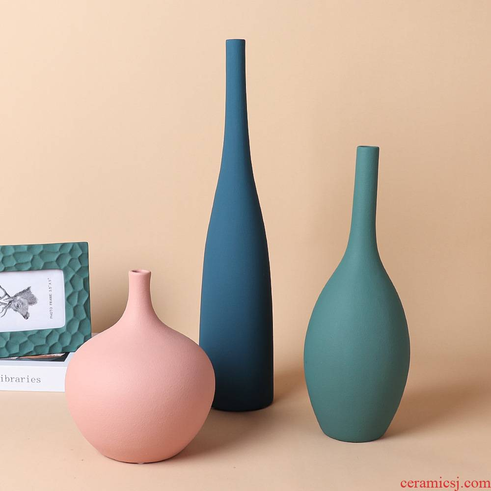 New Chinese style morandi small expressions using example room porch decoration of a home furnishing articles ceramic vases, creative arts and crafts