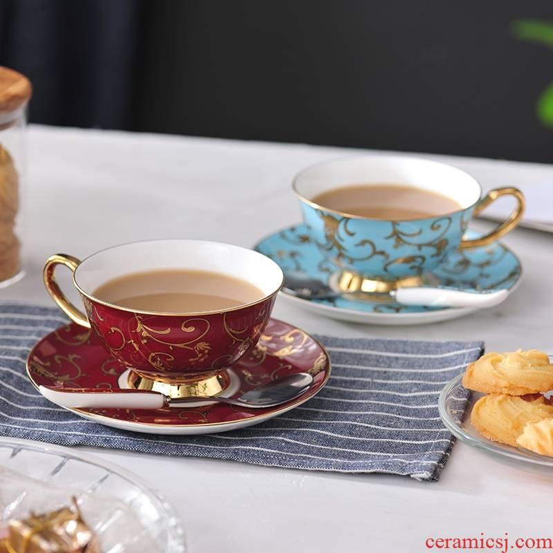 Qiao mu coffee cup suit small European - style key-2 luxury classical creative ceramic tea cup English afternoon tea tea cafe