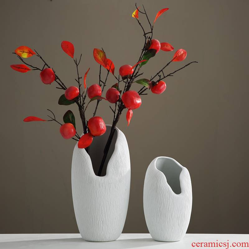 The New Chinese vase of jingdezhen ceramic ornaments Nordic sitting room porch TV cabinet table flower arranging creative furnishing articles