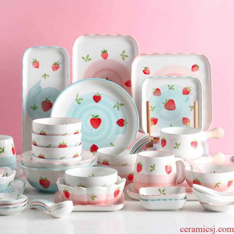 Dishes suit household to eat bread and butter dish dish dish creative lovely web celebrity rainbow such use salad bowl single ceramic tableware