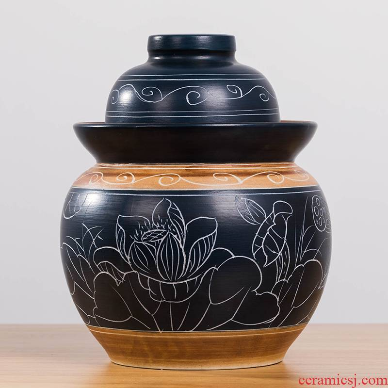 The Pickle jar earthenware home old Pickle jar of small ceramic seal tank sichuan pickled salted duck egg jars