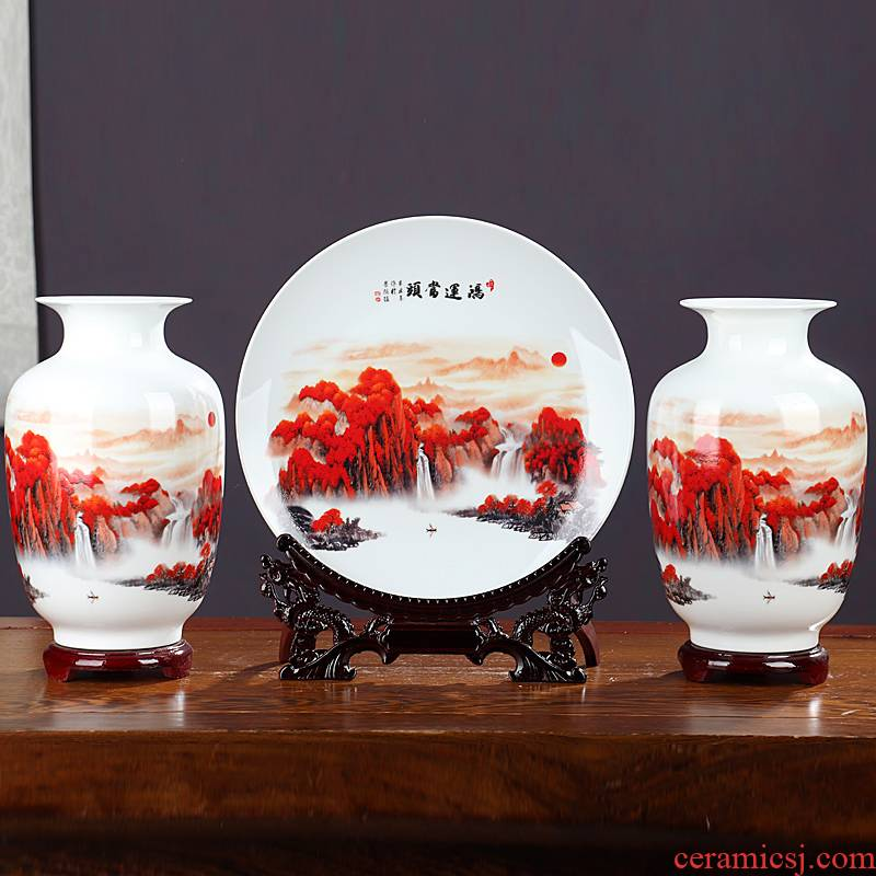 Luck, ceramics, vases, flower arranging jingdezhen Chinese style household furnishing articles, the sitting room porch handicraft ornament