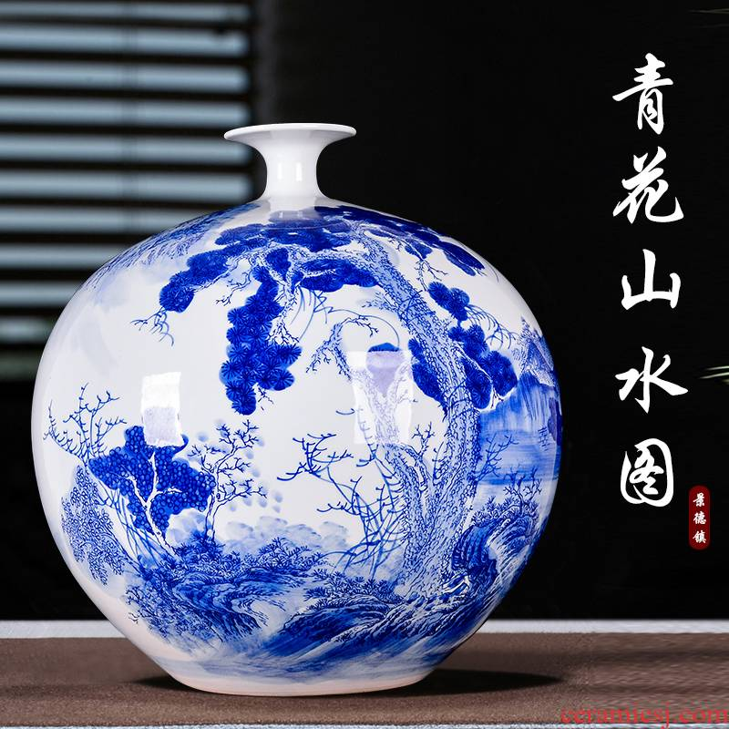 The New Chinese blue and white porcelain of jingdezhen ceramics vase and furnishing articles flowers home sitting room adornment handicraft